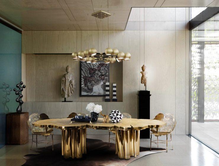 Golden Metallics Restaurant Decor Trend 2020