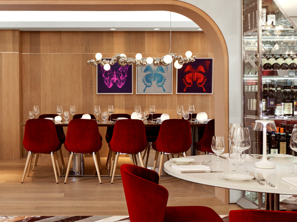 Studio Munge Private Dining Room Ideas, Red And Brown Dining Room Ideas