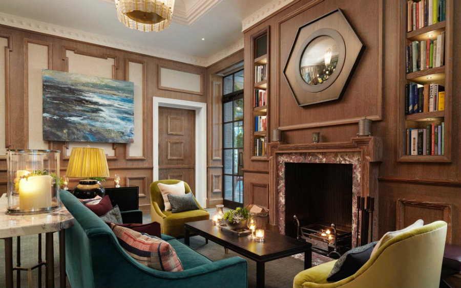 The Carriage House lounge area decor by David Collins