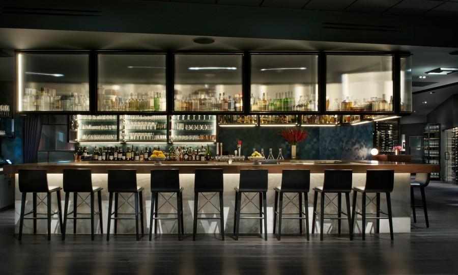 Nick + Stef's Bar Decor