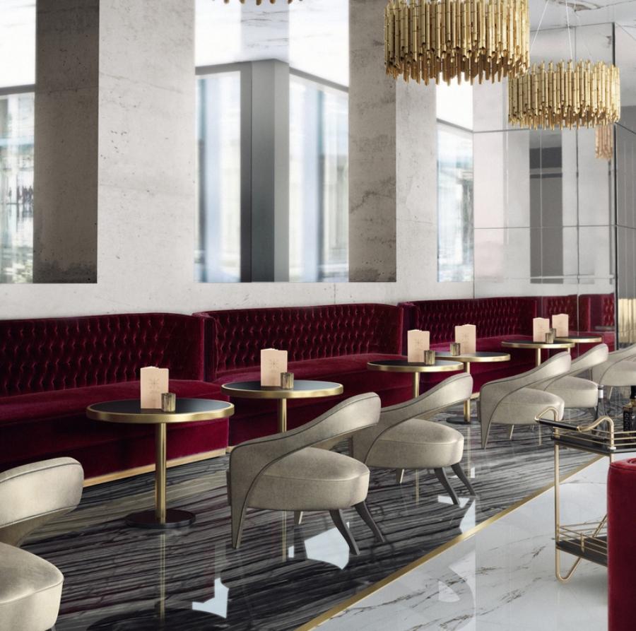 Bruno Borrione creates Elegant Interior Design for Restaurants